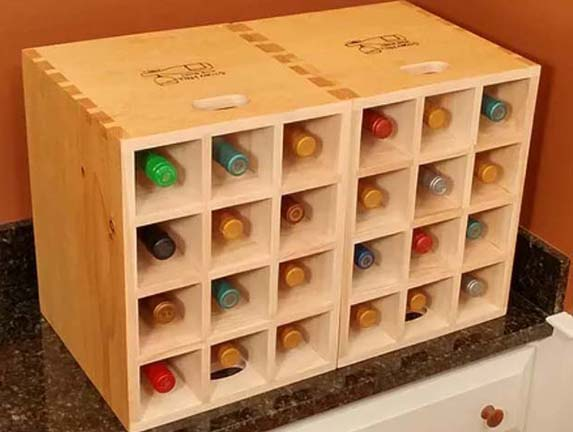 Hand made quality wine boxes